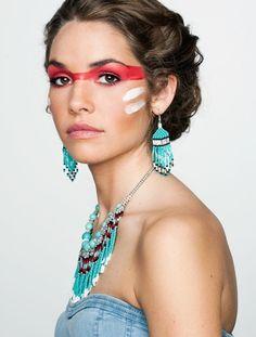 #Make-up, #war paint, #Native American Indian Inspired #myweddingwillbefun #wedding #mybigday
