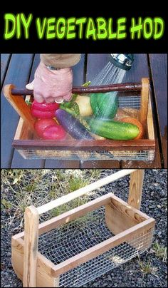 Pick and wash veggies with ease by making your own veggie hod! Is this going to be your next project?