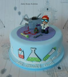 the Dexter's lab cake - Cake by lizzy puscasu Dexter Cake, Dexter Cartoon, Science Cake, Cartoon Cakes, Cute Birthday Cakes, Awesome Cakes, Cake Shop, Edible Art, Sons