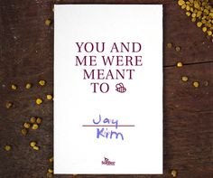 YOU AND ME WERE MEANT TO BEE | Printable Valentine's Day Cards