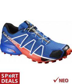 7c6af7dd42c Salomon speedcross 4 ανδρικο παπουτσι μπλε για πεζοπορια και τρεξιμο στα  μονοπατια του βουνου