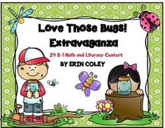 Love Those Bugs! Extravaganza (24 Math & Literacy Centers) Center Activities Kindergarten First Grade Thematic Bugs