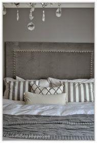 ElisabethsBorg.blogspot.com: Svar på spørsmål om nagler og sengegavl Master Bedroom, Bedroom Decor, Diy Bed, Bed Pillows, Pillow Cases, New Homes, Diy Ideas, Decor Ideas, Headboard Ideas