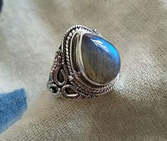 Silver Ring With Cubic Zirconia Bohemian Jewellery, Gypsy Jewelry, Custom Coordinates Bracelet, Bridal Party Jewelry, Labradorite Ring, Victorian Jewelry, Boho Rings, Statement Rings, Gemstone Jewelry