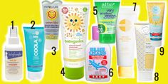 Safest sunscreens for baby