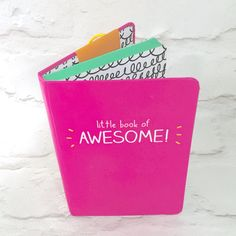 Happy Jackson A6 'Awesome' Lined Notebook