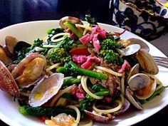 shikano's dish photo 春爛漫さきどり、桜と菜の花と浅利のペペロンチーノ
