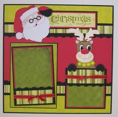 I used Santa Collection from Creative Kuts for this page. The tags in Santa's sleigh are double sided so you can add photos or journali. Christmas Scrapbook Layouts, Love Scrapbook, Baby Boy Scrapbook, Scrapbook Layout Sketches, Scrapbook Templates, Scrapbook Designs, Scrapbook Paper Crafts, Scrapbooking Layouts, Scrapbook Cards