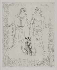 Georges Braque   /   Eurybia and Eros 1932