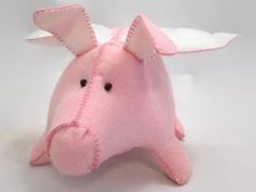 Great Valentines Day Gift. Bigger size. Soo Cute. Pig  Flying Pig  Cupig  OOAK 2015 by HandmadebyCosmo on Etsy