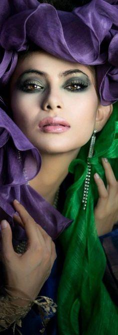 Colors ~ Purple and Green Shades Of Purple, Green And Purple, Plum Purple, Burgundy, Mauve, Cool Winter, Portrait Photography, Fashion Photography, Purple Garden