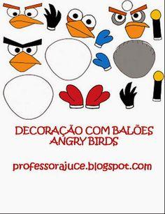 Aprender Brincando: Decoração com Balões - Angry Birds - com molde