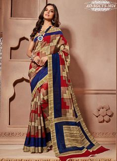 Designer Bhagalpuri Art Silk Casual Wear Saree 7 Days Easy Return, Buy Designer Saree, Georgette Saree, Embroidery Saree, Party Wear Saree, etc.