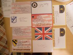 10 MISC US MILITARY -AUTOGRAPHS/SIGNED INDEX CARDS-