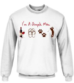 i'm a simple man - Golf (Premium Sweater Unisex - White) golf wear, golf stance, golf crafts for kids #golfswag #golfgods #golftournament, back to school, aesthetic wallpaper, y2k fashion