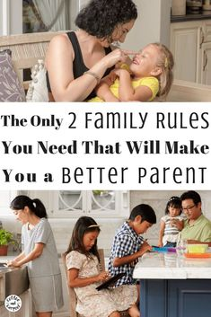 For a calmer more peaceful home, there are only 2 family rules you  need to teach your kids. That's it. Just two. And they work like magic to make them kind people you will want to live with. Works on 2 year olds to teenagers! #familyrules #ParentingAdvice #parentingtips  #getkidstolisten #bekind #coffeeandcarpool