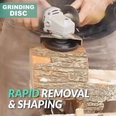 Wood Carving Disc ⚒ Make your wood projects beautiful! This powerful 6 Teeth Wood Carving Disc is designed to mount on a standard electric angle grinder and provide rapid material removal to save your time and effort, meet your various needs. Woodworking Projects Diy, Diy Wood Projects, Woodworking Plans, Wood Crafts, Boat Projects, Diy Crafts, Wood Carving Tools, Wood Tools, Diy Tools