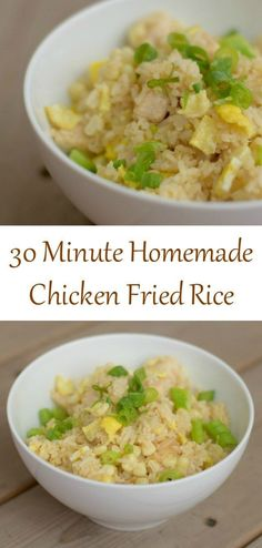 Try this delicious and easy weeknight homemade chicken fried rice recipe. Yes…