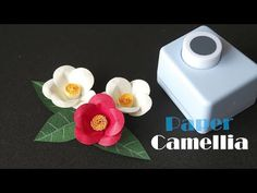How to Make Paper Camellia With Paper Punch - Dehily Paper Flower Art, Tissue Paper Flowers, Paper Flower Tutorial, Paper Punch Art, Punch Art Cards, Handmade Flowers, Diy Flowers, Origami 3d, Craft Punches