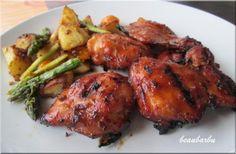 Hauts de cuisse de poulet barbecue (recette du chef antoine sicotte) présentation de Beaubarbu