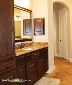 Homes features 4 #bathrooms #granite #countertops #mirror