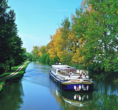 Barging Vacations Offer a Grassroots Taste of Europe - still in my head American River Cruises, European River Cruises, Vacation Destinations, Vacation Trips, Places Around The World, Around The Worlds, Culture Of France, Dutch Barge, Ways To Travel