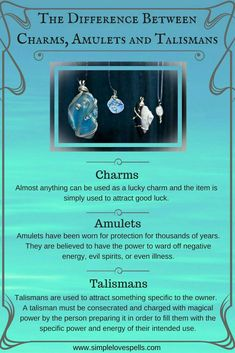 Charms, Amulets and Talismans Book of Shadows, Witchcraft, Witchcraft for Beginners, Magick Magick Spells, Wiccan Witch, Jar Spells, Wiccan Magic, Green Witchcraft, Paranormal, Images Esthétiques, Witchcraft For Beginners, Baby Witch