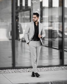 Grey suit is always perfect choice ☝🏼 Mens Suits, Normcore, Grey, Fit, Collection, Style, Fashion, Dress Suits For Men, Gray