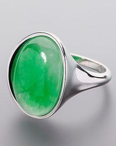 Silberring mit Burma Jade - jetzt online bestellen!