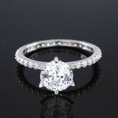 Round Cut 2.85ct VVS1 Diamond Eternity Solitaire Engagement Ring G904 #affinityjewelry #SolitaireRing