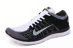 Nike Men Free 40 Flyknit Blackout White Pure Platinum TopDeals