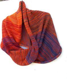 knitted wool scarf knit colorful cowl shawl by peonijahandmadeshop