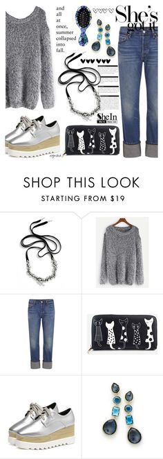 """""""GREY With SHEIN #1"""" by wynsha ❤ liked on Polyvore featuring BoConcept, Cristabelle, WithChic, Levi's, Ippolita and The Wet Brush"""
