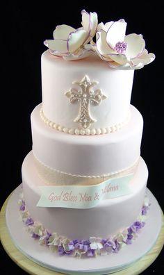 First Communion Cake First Communion Cakes, First Holy Communion, Confirmation Cakes, Christening Cakes, Mini Cakes, Cupcake Cakes, Catholic Baptism, Religious Cakes, Buckwheat Cake