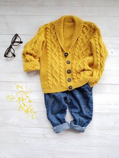 Colorful bumps S-M Cotton and silk cardigan of effect yarn knitted with silk and cotton