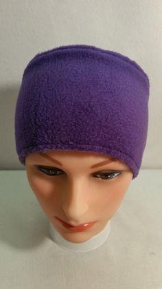 Purple Fleece Head Band, Purple Ear Warmer, Fleece Head Band, Purple Head Band, Purple Fleece Ear Warmer, Fleece Winter Accessory by StephFleeceDesigns on Etsy