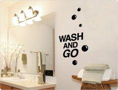 Vintage Wandtattoo Wash and Go
