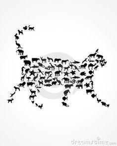 Animal Silhouettes Royalty Free Stock Photo - Image: 23620975