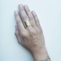 Sometimes just one is enough .. #perforatedring #ivyandliv #jewelry www.ivyandliv.com