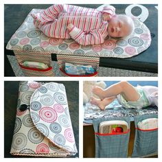 If you have a little one, then you will be interested in making travel diaper changing pad and clutch bag as it helps you a lot in some inconvenient circumstances. The Travel Diaper Changing Pad Pattern is the perfect gift to give a new mom, especially Baby Sewing Projects, Sewing Projects For Beginners, Sewing For Kids, Sewing Tips, Sewing Tutorials, Sewing Hacks, Sewing Basics, Diaper Bag Tutorials, Diy Projects