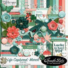 Life Captured: March digital scrapbooking kit from Jennifer Labre Designs