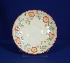 Churchill England Pattern Briar Rose White Saucer bfe1727 #Churchill