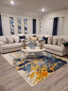 Decor Home Living Room, Cozy Living Rooms, New Living Room, Apartment Living, Home And Living, Apartment Ideas, Family Room Decorating, Decorating Ideas, Decor Ideas