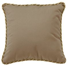 Tropitone Throw Pillow Fabric: Valencia, Size: 16""