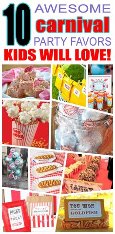 Great carnival party favors kids will love. Fun and cool carnival birthday party favor ideas for children. Easy goody bags, treat bags, gifts and more for boys and girls. Get the best carnival birthday party favors any child would love to take home. Loot bags, loot boxes, goodie bags, candy and more for carnival party celebrations.