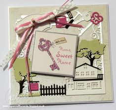 Home Sweet Home card made with Yvonne Creations Moving Frame die, and a Kanban Love & Marriage sentiment topper. Designed by Carole Davis #papercraftbycarole #yvonnecreations #kanban