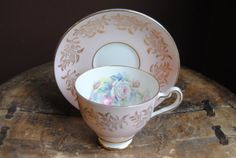 STRATFORD Bone China Tea Cup and Saucer Pale by HoneyandBumble, $21.00