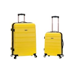 e2696f573 Rockland Melbourne Expandable 2-Piece Hardside Spinner Luggage Set, Yellow