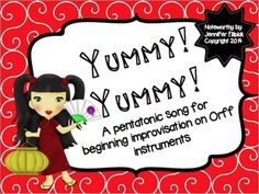 *Serve up a fun pentatonic song in your classroom about Chinese food!    *My first composition--and I think it's good :)