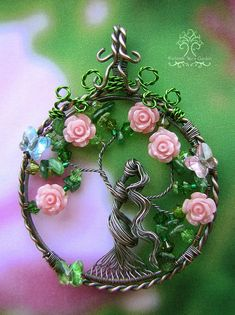 Persephone Inspired Tree of Life Wire by RachaelsWireGarden